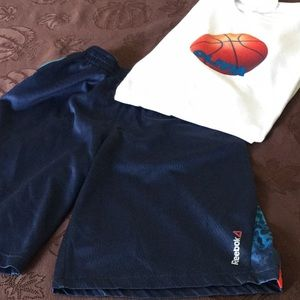 Shorts and tee.  Size YL